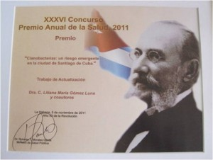 Premio Anual de Salud 2011 Dr. Liliana Gómez Luna