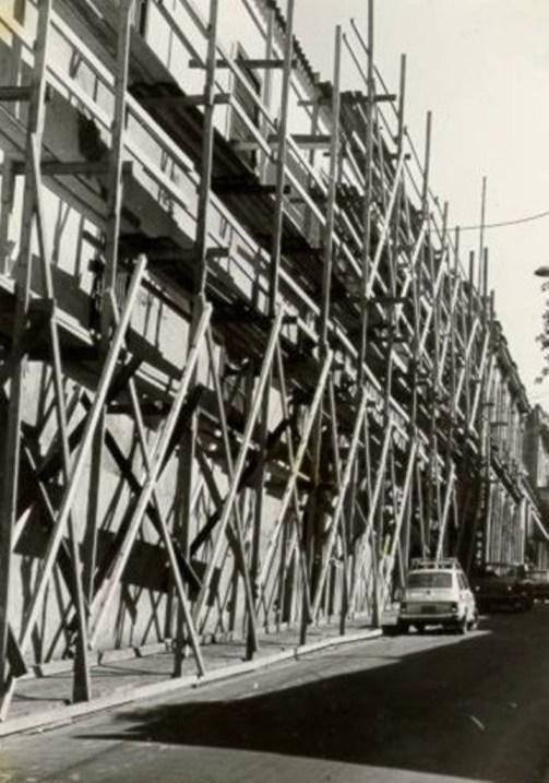 momentos en la construcción del vivac de santiago de cuba