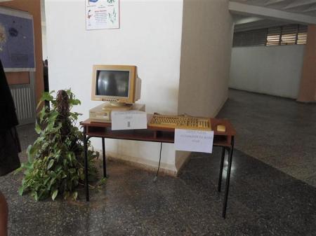 Esta era la máquina donde se conectaban los 60 blogueros participantes en el evento