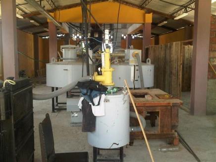 gasificador de biomasa forestal ubicado en el Brujo, en La Gran Piedra