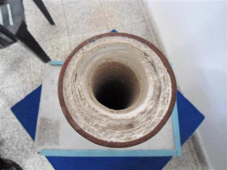 Incrustaciones en una tubería de un central azucarero