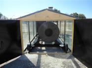 Secador solar de granos de tambor rotatorio