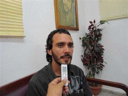 Noel Pérez García, especialista del Centro Nacional de Electromagnetismo Aplicado