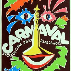 cartel carnaval santiago de cuba 2013_aniversario 60 del moncada