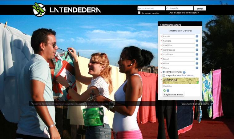 La Tendedera, red social cubana