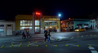 La Central, cremería que marca el inicio o fin de la Carretera Central que une La Habana y Santiago de Cuba. Está en la intersección de La Carretera Central y Avenida Victoriano Garzón