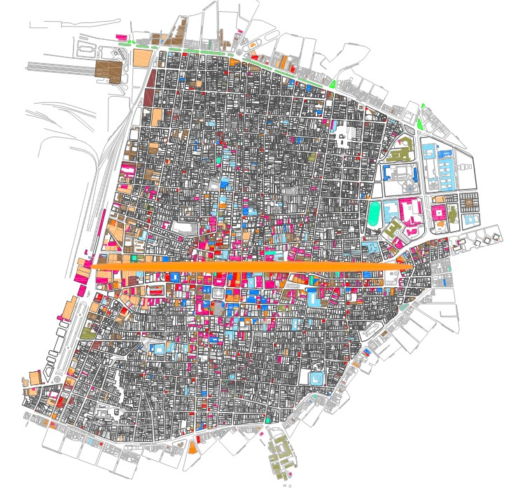 Plano del Corredor Patrimonial Enramadas. Foto cortesía Oficina del Conservador de la Ciudad